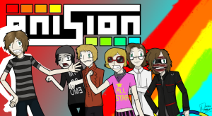 Fan art with various Onision characters.
