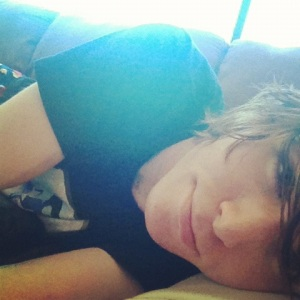 Onision Laying On His Couch