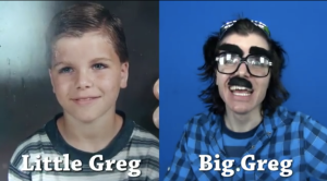 Onision when he was little, and Onision when he grew up.